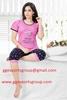 Women's Sleepwear Cotton Short Sleeve round neck top and Capri Pyjama Set