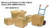 REMOVAL, PACKING AND STORAGE SERVICES