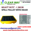 HEAVY DUTY 1 DRUM SPILL PALLET WITH DRAIN DEALER IN MUSSAFAH , ABUDHABI , UAE