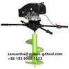 Big power 173cc ground drill earth auger