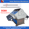 roll reducing machine for tubular heaters